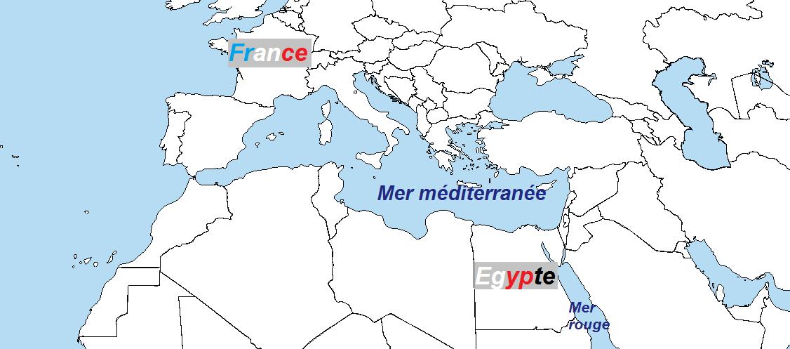 carte-egypte-monde